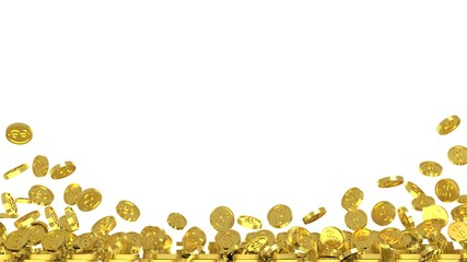 background with gold coins