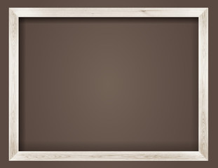 natural white wooden photo frame