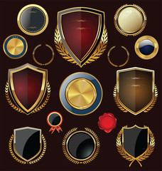 Golden Shields, labels and laurels, collection