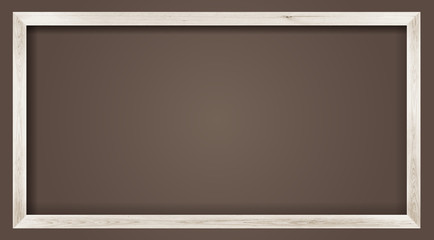 horizontal size natural white wooden photo frame