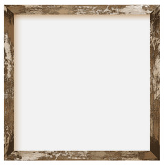 rustic square size wooden photo frame
