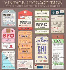 Vector Luggage Tags