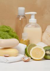 Shampoo, Liquid Soap, Aromatic Bath Salt And Other Toiletry