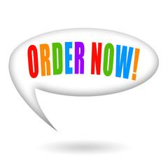 Order now speech bubble
