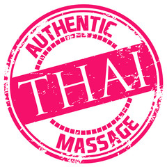 thai massage rubber stamp