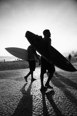 Rio Surfboard Sunset Surfers Arpoador Brazil