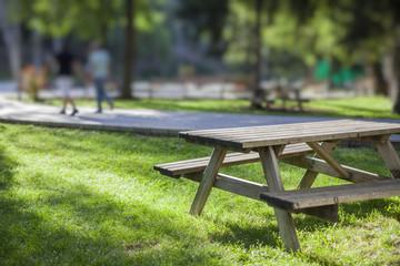picnic table in park