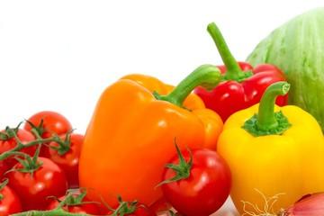 Tomaten, Paprika, Salat und Zwiebel - Gemüse