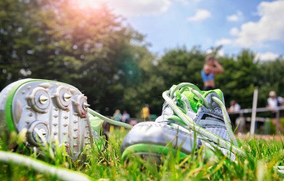 Leichtathletik Meeting Sportfest Spikeschuhe Spikes Schuhe