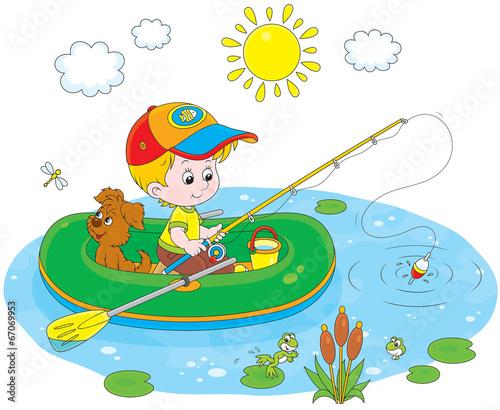 дети ловят рыбу картинки