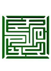 yeşil 3d labirent