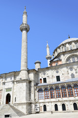 Detail of the architecture of the  mosque in Istanbul, Turkey