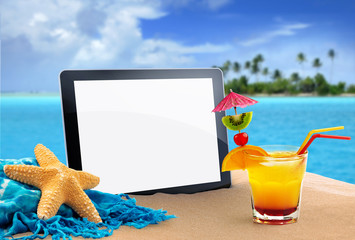 tablet in the beach