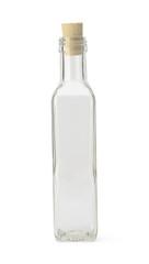 Empty bottle with cork cap