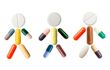 Human with pills