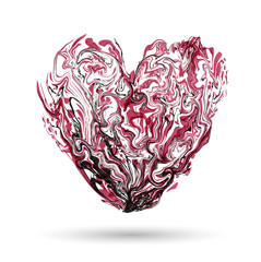 marbling heart