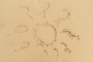 beach sand sun sign