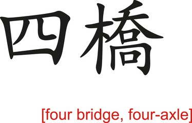Chinese Sign for four bridge, four-axle