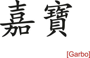 Chinese Sign for Garbo