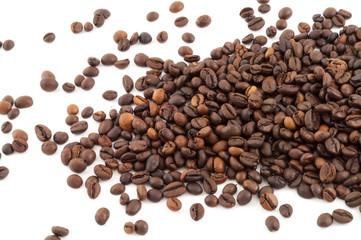 macro of raw coffee