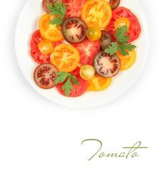 tomatoes on white