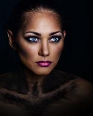 Girl with makeup panthers