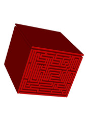 kırmızı küp labirent yüzlü