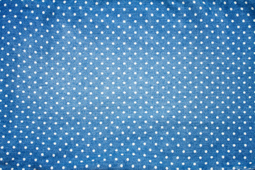 blue jeans with white polka dot