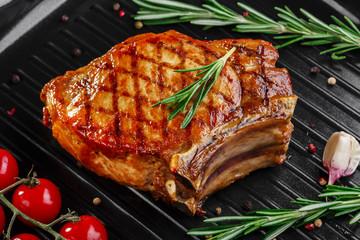 chop on the bone grill pan