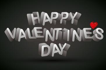 Happy Valentine's Day phrase.