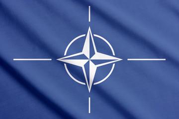 Flag of NATO waving