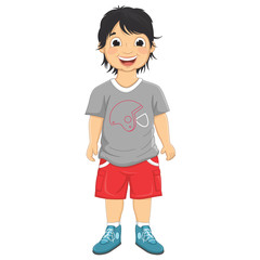 Boy Smiling Vector Illustration