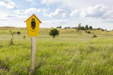 Graslandschaft als Naturschutzgebiet