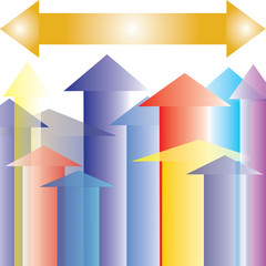 Colorful Arrow Up to Upward Point