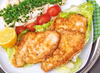Scholle mit Kartoffelsalat