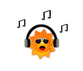 Sole che ascolta la musica