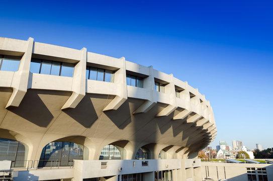 Facade of Yoyogi National Gymnasium, Tokyo, Japan