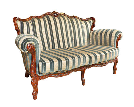 Antique velvet couch