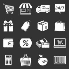 E-commerce shopping icons set