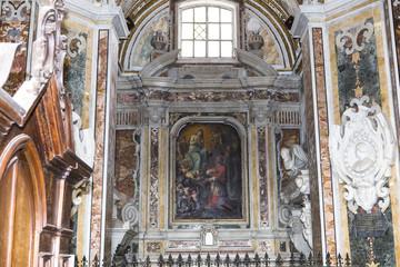 Interiors of San Paolo Maggiore church, Naples, Italy