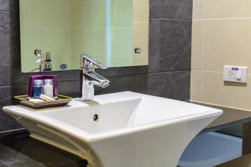 Hotel washroom interior