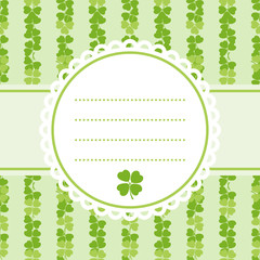 Decorative flower background with clover and place for text