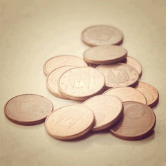 Euro cent currency