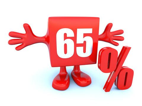 65 Percent off discount