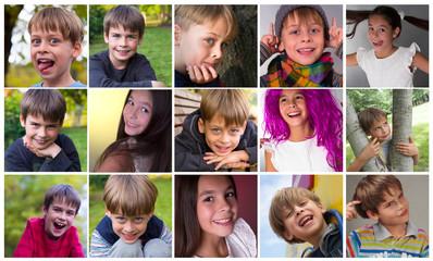 happy children collage