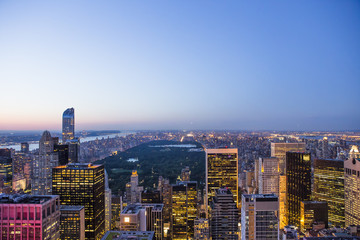 Skyline from Top of the rocks, Manhattan, New-york, USA