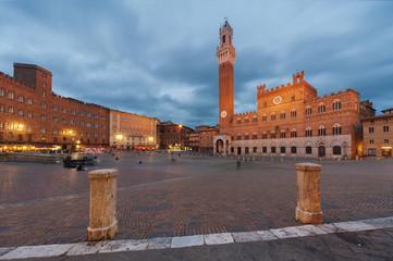 Fototapete - Piazza del Campo, Siena, Italy.