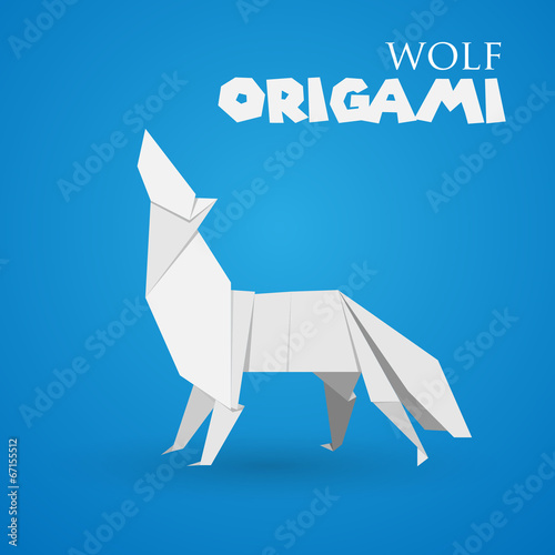 Wolf Origami Stock Image And Royalty Free Vector Files On Fotolia