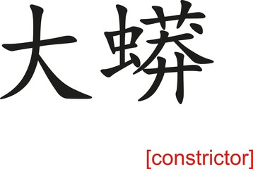 Chinese Sign for constrictor
