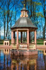 St Petersburg sightseeing in Summer garden arbour